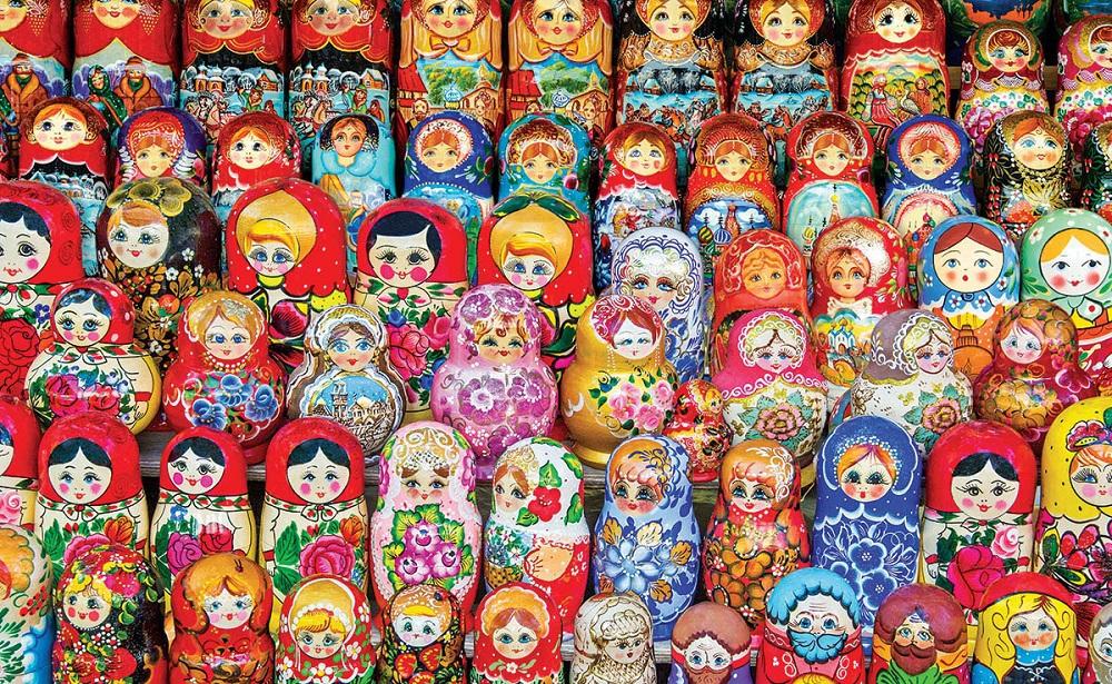 Búp bê Nga là một món đồ truyền thống của xứ sở Bạch Dương.