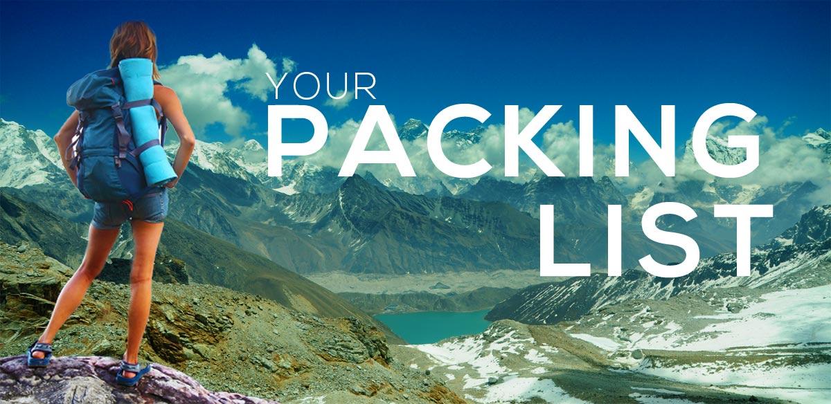 danh sách những những thứ cần chuẩn bị khi đi leo núi