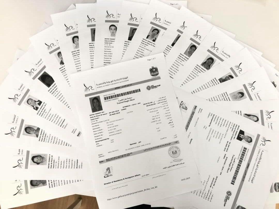 Hồ sơ xin visa đi Dubai