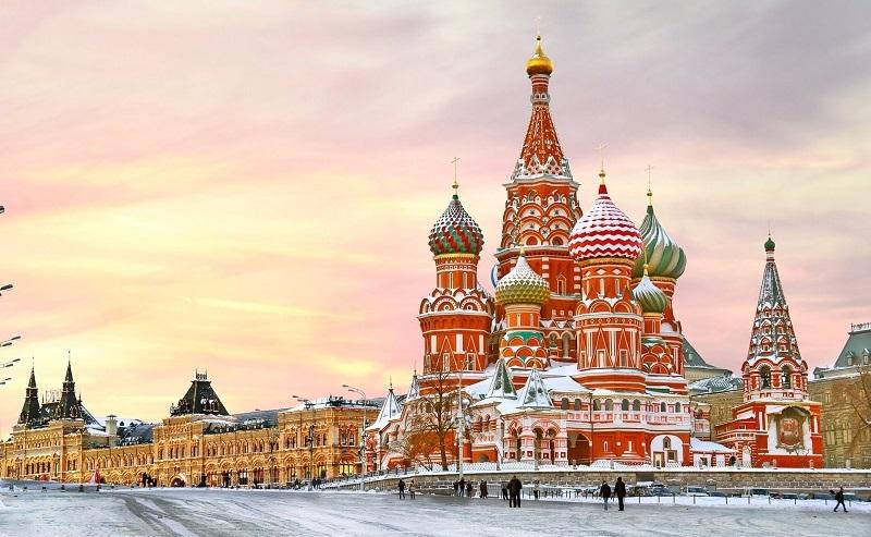 Quảng trường Đỏ là nơi tập hợp nhiều địa điểm du lịch nổi tiếng ở Nga