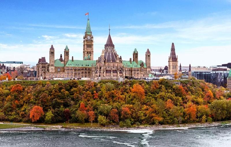 Một góc thành phố Ottawa xinh đẹp vào mùa thu