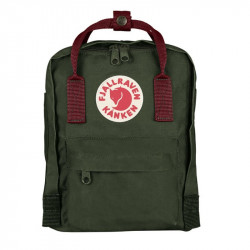Balo Fjallraven Kanken Mini Forest Green/OX Red