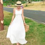 Váy hở lưng dài BAL03C White