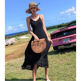 Váy Hở Lưng Dài BAL03C Black
