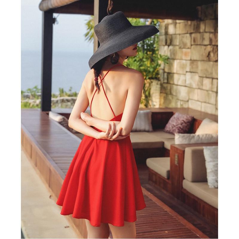 Váy hở lưng ngắn BAL02A Red