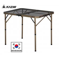 Bàn xếp inox 2 gấp Kazmi Iron Mesh 2 kèm túi K7T3U013