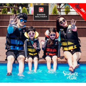 Áo phao bơi cho trẻ em Swiss Military Basic S Made In Korea