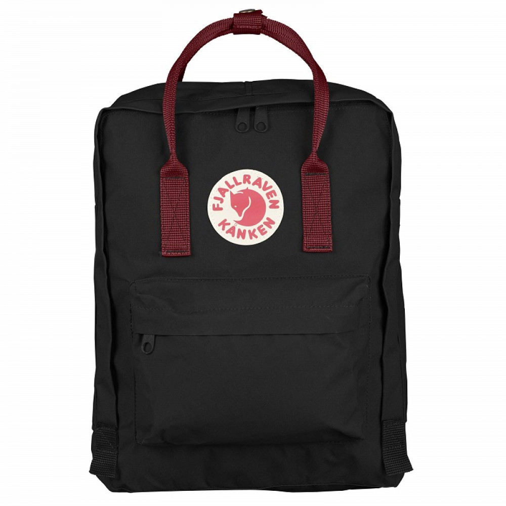 Balo Fjallraven Kanken Classic 0642 Black/Ox Red