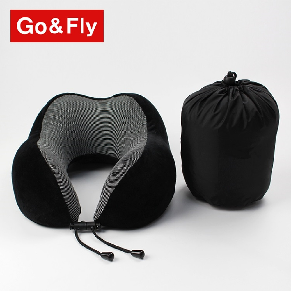 Gối chữ U GoandFly Soft Black