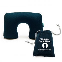Msquare Neck Pillow Navy