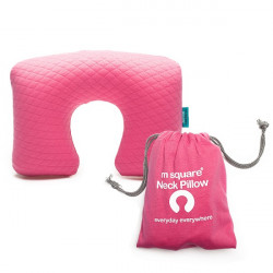 Gối hơi Msquare Neck Pillow Pink