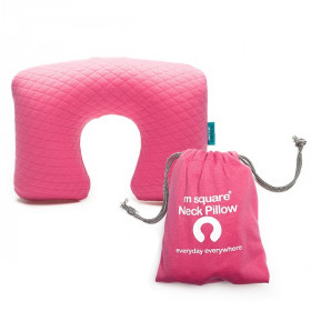 Msquare Neck Pillow Pink