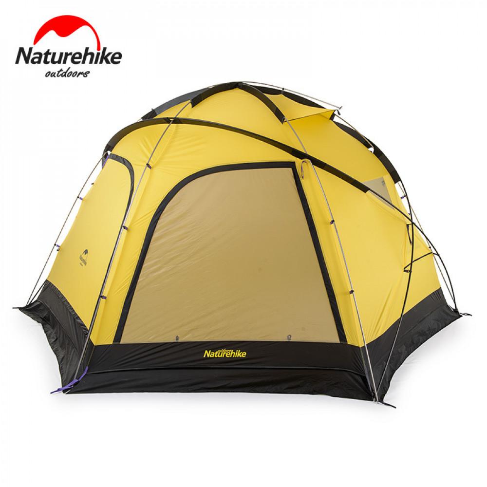 Lều du lịch Naturehike NH17C260D cỡ lớn 8-10 người vàng