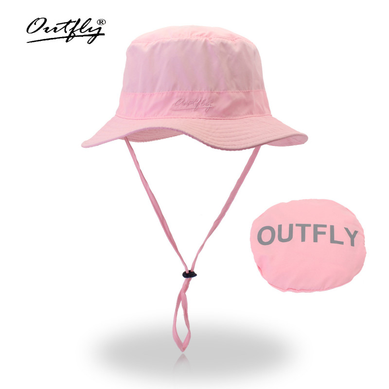 Mũ Bucket nữ Outfly B09004A pink