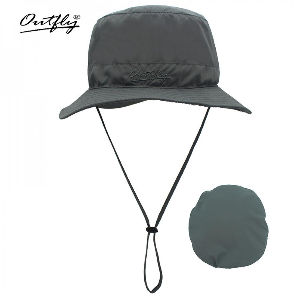 Mũ Bucket nữ Outfly B09004B grey