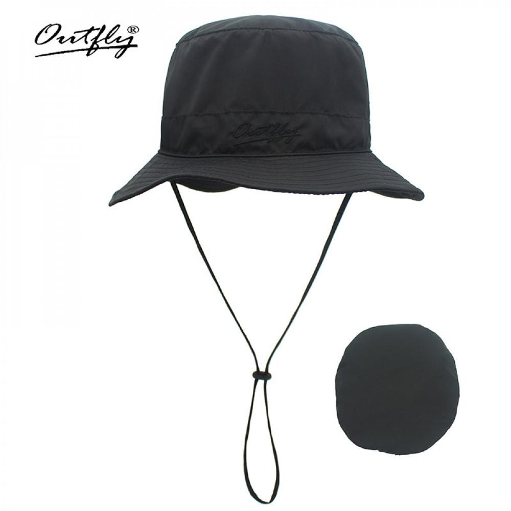 Mũ Bucket nam nữ Outfly B09004C black
