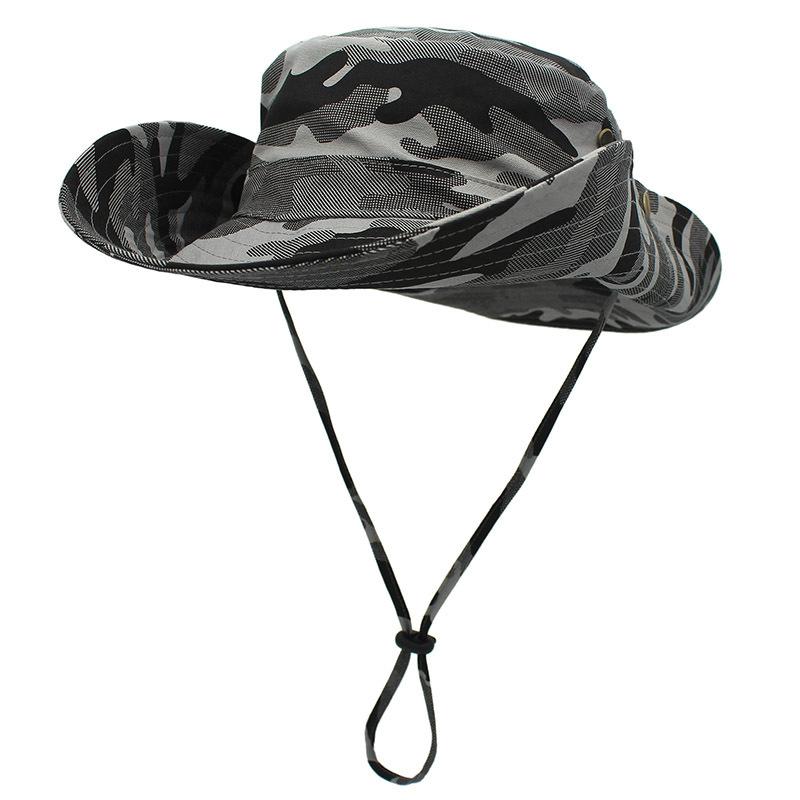 Mũ Outfly nam rộng vành tai bèo B1003A camo grey