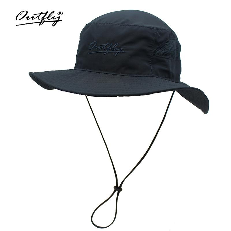 Nón Bucket Outfly nữ B18001B dark blue rộng vành tai bèo