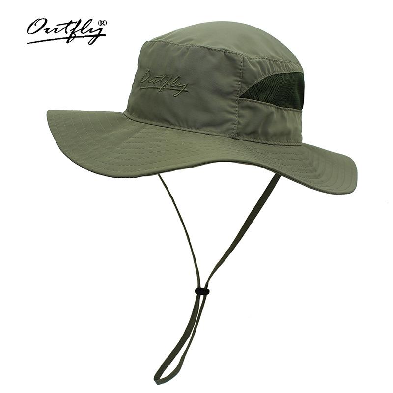 Mũ nón Bucket nữ B18001D army green tai bèo rộng vành