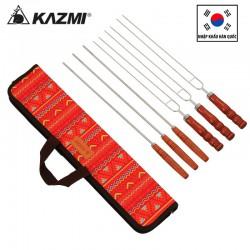 Bộ 6 que xiên nướng inox Kazmi Tweezers kèm túi K8T3G001