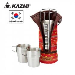 Set 6 cốc du lịch kèm túi Kazmi Stainless K4T3K004