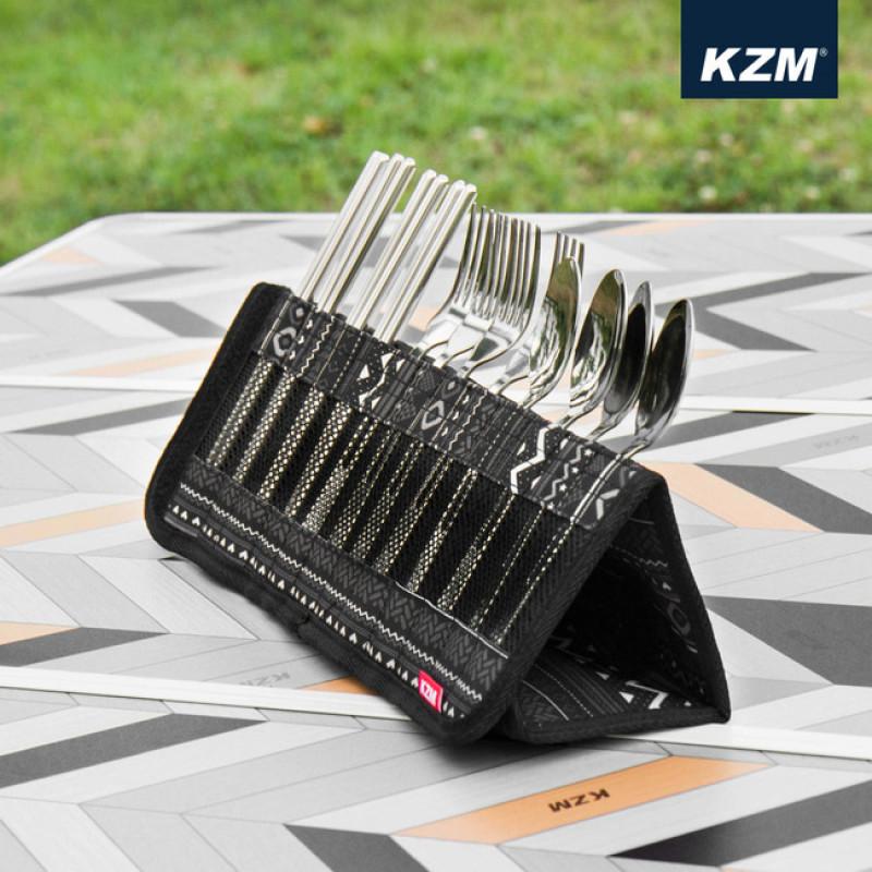 Bộ đũa thìa dĩa inox xếp gọn Kazmi K9T3K004