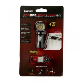 Đèn pin đội đầu iPROTEC PRO 600 HEAD+TASK RC