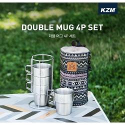 Bộ 4 cốc du lịch dã ngoại Kazmi K3T3K044