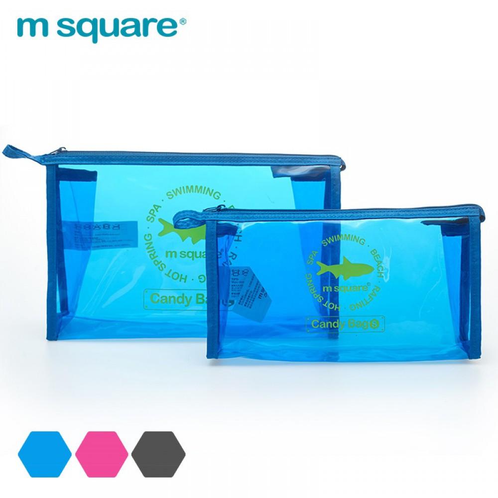 Túi đựng mỹ phẩm trong suốt Msquare Candy Bag S L