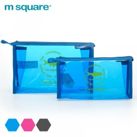 Túi đựng mỹ phẩm trong suốt Msquare Candy Bag S L Blue
