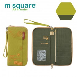 Ví đựng passport nam nữ Msquare M0581 size S, L Green