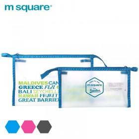 Túi đựng mỹ phẩm trong suốt Msquare Blue
