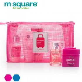 Túi nhỏ đựng mỹ phẩm lưới Msquare Go Simple Pink