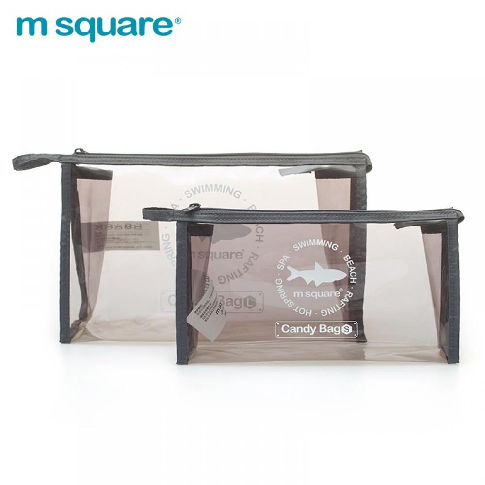 Túi nhựa trong suốt đựng mỹ phẩm Msquare Candy Bag Grey