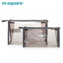 Túi nhựa trong suốt đựng mỹ phẩm Msquare Candy Bag S L Grey