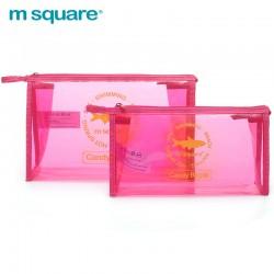 Túi nhựa trong suốt đựng mỹ phẩm Msquare Candy Bag S L Pink