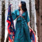 Váy bohemian BHM02 tay lửng