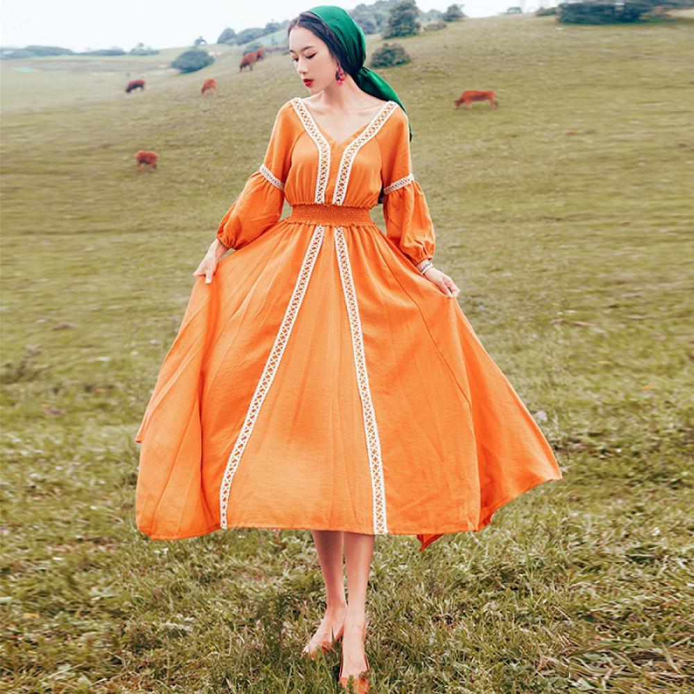 Váy bohemian BHM05 Orange