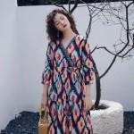 Váy Dài Đi Biển Họa Tiết BLD02B
