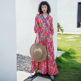 Váy Dài Đi Biển Họa Tiết BLD02D