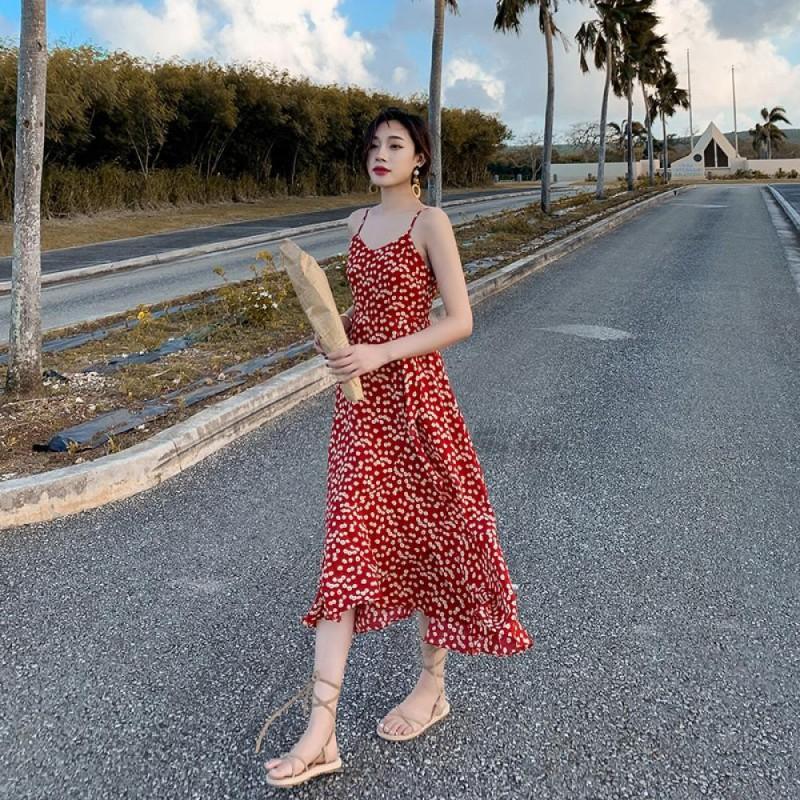 Váy hai dây TDR01 Red