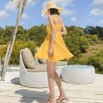 Váy xòe đi biển VXE01 Yellow