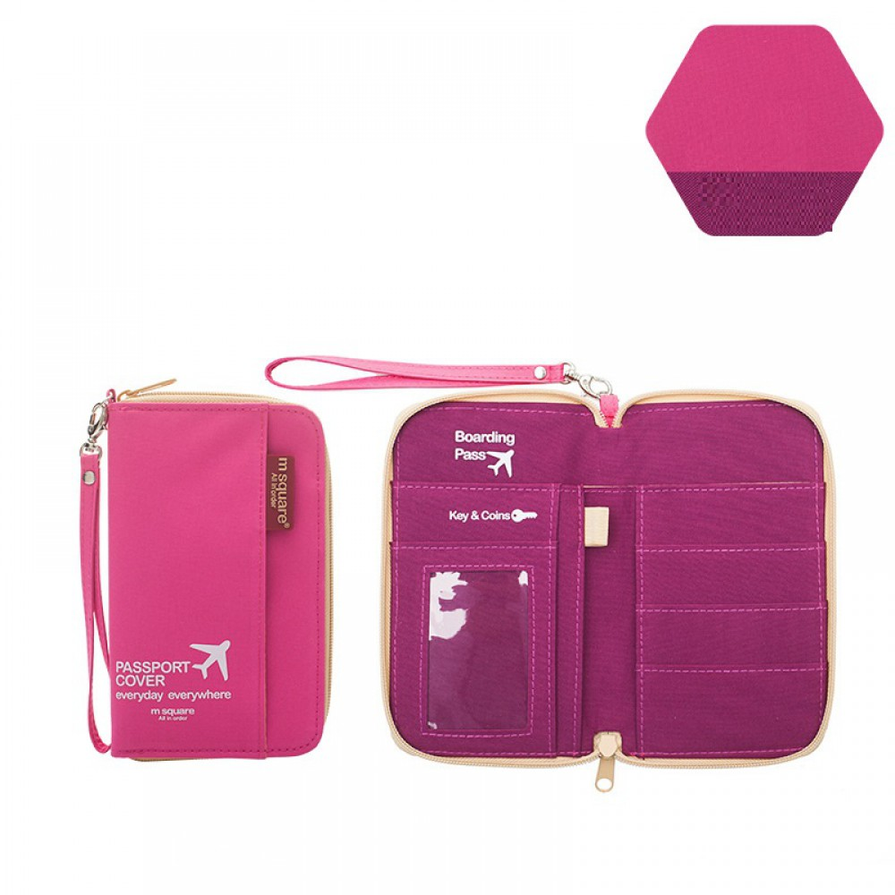 Bao Đựng Passport Msquare Size S Pink