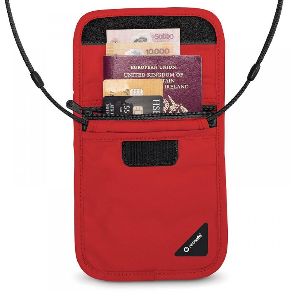 Túi đựng hộ chiếu chống trộm Pacsafe X75 RFID Blocking Red