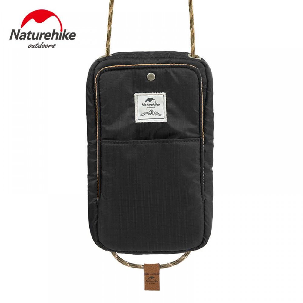 Túi Đựng Passport đeo cổ Naturehike NH17X010B Black
