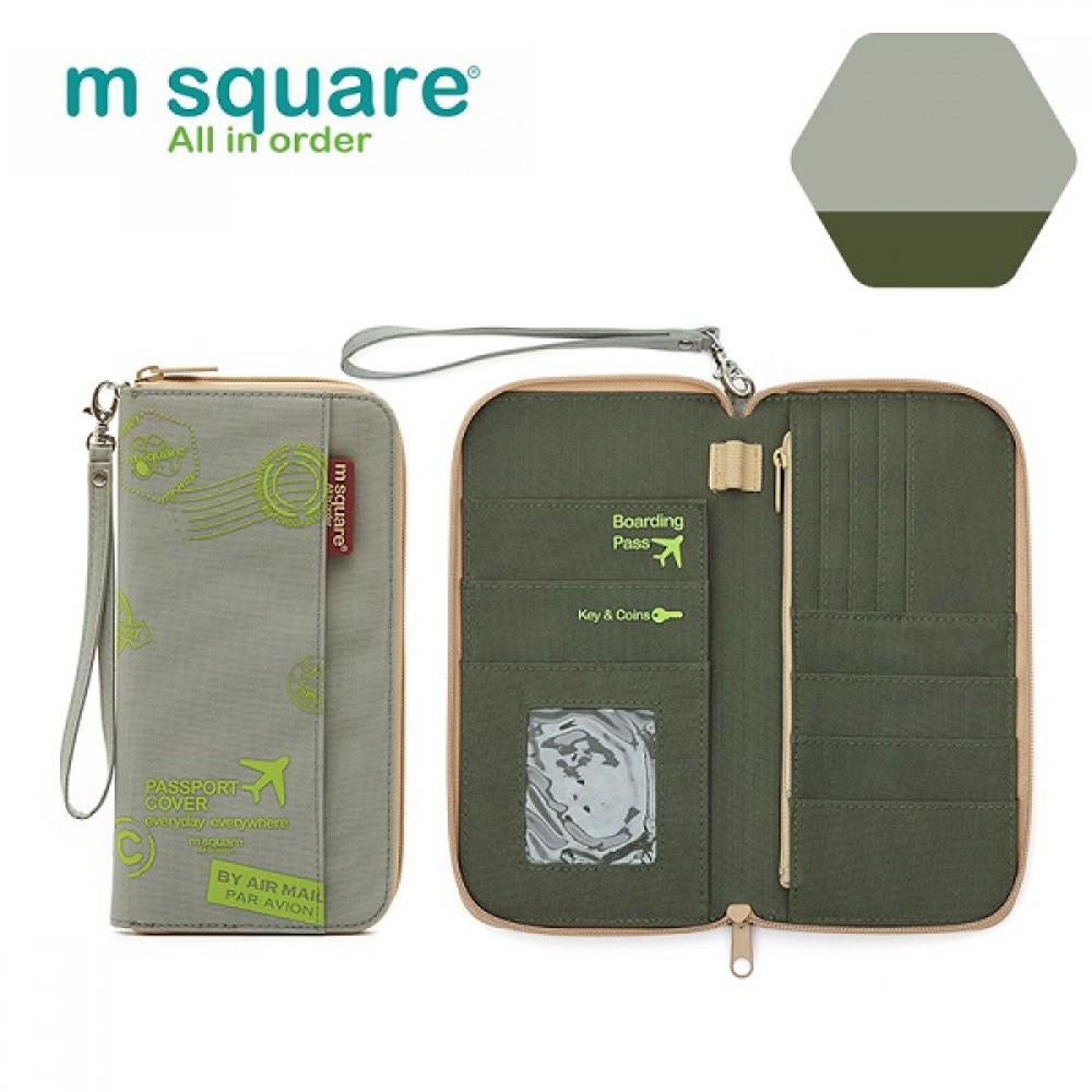 Ví đựng passport Msquare Nam Nữ M0581 Size S, L Grey