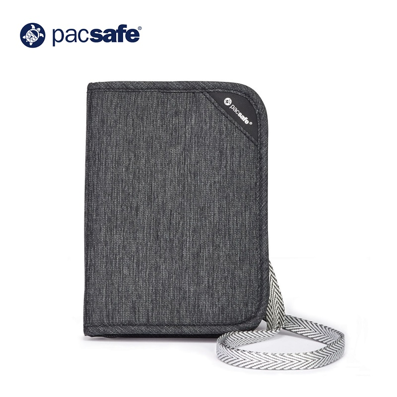 Ví Passport Chống Trộm Pacsafe RFIDsafe V150 Compact Organiser Grey