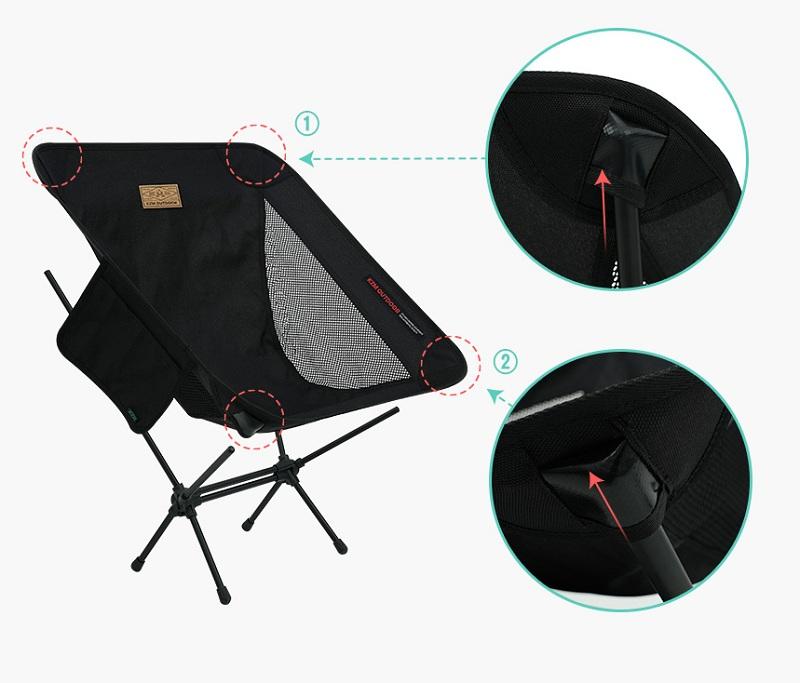 Cách lắp đặt ghế gấp dã ngoại Kazmi K21T1C01 rất đơn giản