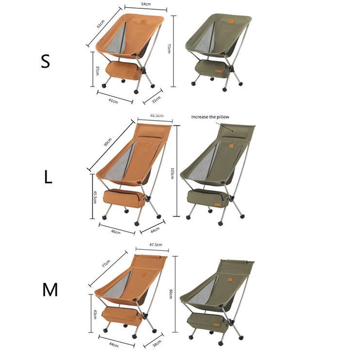 Ghế gấp gọn Naturehike NH20JJ027 có rất nhiều kích thước khác nhau để bạn chọn lựa