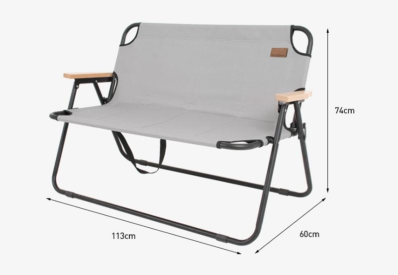 Kích thước ghế sofa xếp Kazmi K20T1C015 đủ dùng cho 2 người